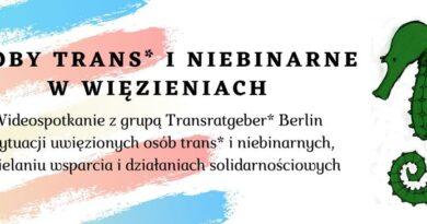 [25 października 2020, warszawa] Osoby trans* i niebinarne w więzieniach