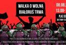 [8 sierpnia 2021, warszawa] Walka o wolną białoruś trwa