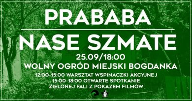 25 wrzesień, Poznań – Otwarte spotkanie Zielonej Fali – koncerty, premiery filmowe, warsztaty, dyskusje